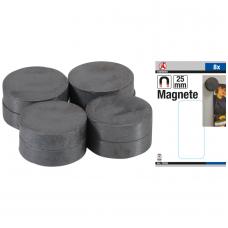 Magnetų rinkinys keramika Ø 25 mm 8 vnt.
