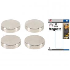 Magnetų rinkinys  ypač stiprūs  Ø 12 mm  4 vnt.