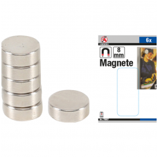 Magnetų rinkinys  ypač stiprūs Ø 8 mm 6 vnt.