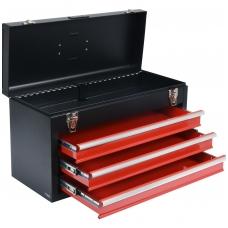 Metalinė įrankių dėžė, tuščia - 3 stalčiai