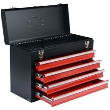 Metalinė įrankių dėžė, tuščia | 4 stalčiai