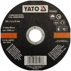 Nerūdyjančio plieno pjovimo diskas 125x1,2x22 mm