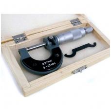 Mikrometras 0,01 mm, 0-25 mm