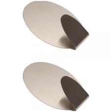 Nerūdijančio plieno klijuojami kabliukai - 1,0 kg - 2 vnt.