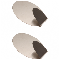 Nerūdijančio plieno klijuojami kabliukai - 1.5 kg - 2 vnt.