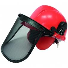 Šalmas su veido apsauga ir ausinėmis