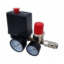 Oro kompresoriaus, slėgio relę su manometrais.230V