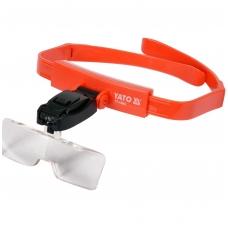 Padidinimo akiniai dedami ant galvos su rinkiniu
