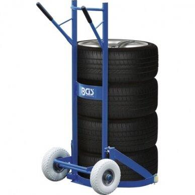 Padangų/ratų transportavimo vežimėlis 200kg.