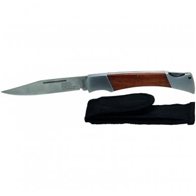 Lenktinis peilis 240 mm ilgio, su fiksacija