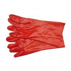 Pirštinės gumuotos raudonos 36cm