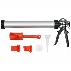 Pistoletas hermetikui aliuminis su rinkiniu1l- 380 mm