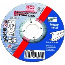 Pjovimo diskas metalui 115 x 2.5 mm, tipas 42
