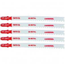 Pjūkliukai siaurapjūkliui 5vnt, 10~5TPI / 2.4~5.0mm (universalūs)