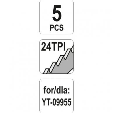 Pjūkliukai pneumatiniam siauraplūkliui - HSS-24T - 5 vnt. 4