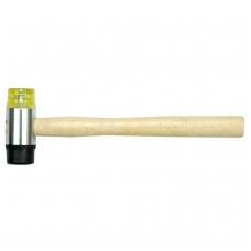 Plaktukas gumine-plastikine Ø 35 mm galva, medine rankena