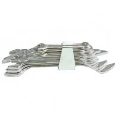 Plokščių raktų rinkinys atviru galu 8 vnt, 6-22 mm
