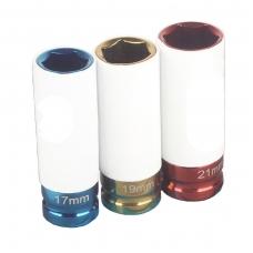 Plonasienių smūginių galvučių rinkinys 3 vnt. 17-19-21mm