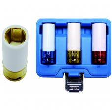 Plonasienių smūginių galvučių rinkinys 3 vnt 17-19-21mm