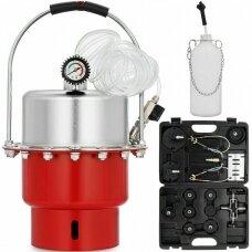 Profesionalus stabdžių sistemos nuorinimo prietaisas su adapteriais