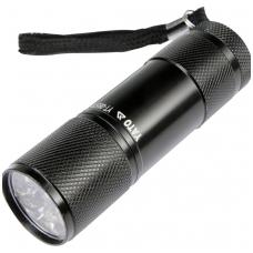 Prožektorius aliuminis, 9 LED, juodas