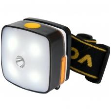 Prožektorius dedamas ant galvos XPE CREE 3W 4 SMD LED Li-Ion AKU USB