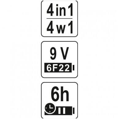 Profilių/drėgmės/įtampos aptikimo detektorius 4 viename 6