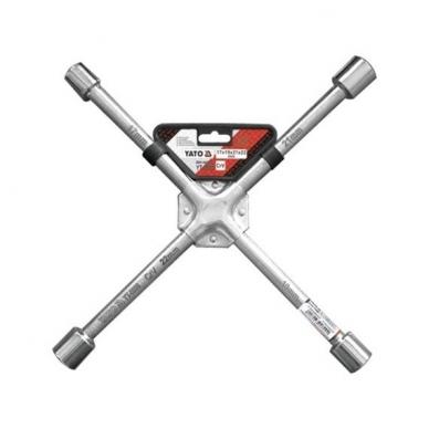 """Raktas ratams Cr-V, sustiprintas """"kryžius"""" 17x19x21x22 mm"""