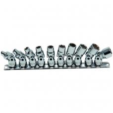 """Šarnyrinių 6-kampių galvučių rinkinys 1/4"""", Pro Torque®, 5 - 13 mm, 10vnt."""