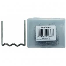 Sąvaržėlės plastiko remonto įrangai BGS 873, U formos 0,6 mm