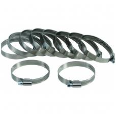 Sąvaržų rinkinys 50x70 mm, Stainless Steel, 10 vnt.