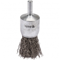 Šepetys teptuko tipo su kotu nerūdijantis plienas INOX - 25mm.
