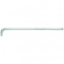 Šešiakampis raktas lenktas ilgas šarnyrinis 210 mm, 8.0 mm