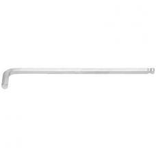 Šešiakampis raktas lenktas ilgas šarnyrinis 220 mm, 9.0 mm