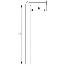 Šešiakampis raktas lenktas labai ilgas 8,0 mm, 6 vnt