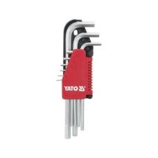Šešiakampių ilgų raktų komplektas 9 dalių 1,5-10 mm