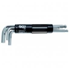 Šešiakampių raktų komplektas 8 vnt, CR-V, 2-10 mm