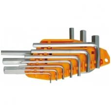 Šešiakampių raktų komplektas / hex / 10vnt. 1,5 - 10mm