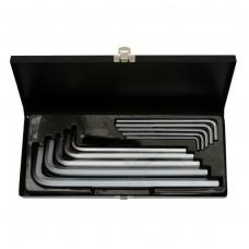 Šešiakampių raktų komplektas metalinėje dėžutėje 3-17 mm