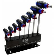 Šešiakampių raktų rinkinys Hex rankenom 2-10 mm