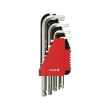 Šešiakampių šarnyrinių raktų komplektas 10 dalių 2-12 mm