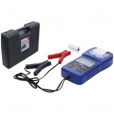 Skaitmeninis akumuliatorių testeris ir įkroviklio sistemos testeris su spausdintuvu
