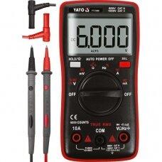 Skaitmeninis daugiafunkcinis testeris TRUE RMS 6000 AUTO LCD