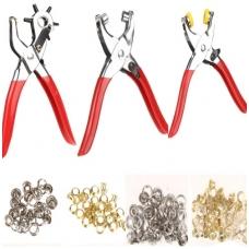 Skylių darymo ir kniedijimo replių rinkinys su kniedėmis 128vnt
