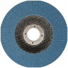 Šlifavimo diskas lapelinis plokščios formos mėlynas 125mm P36 INOX
