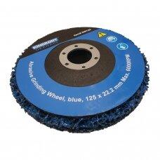 Šlifavimo diskas su abrazyvine medžiaga, mėlynas, Zirconium 125x22.2mm.