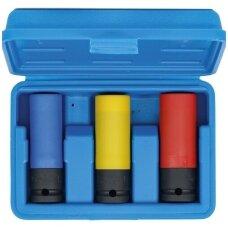 """Smūginių galvučių rinkinys su apsauga itin siauros (1/2"""") 17/19/21mm. 3vnt."""
