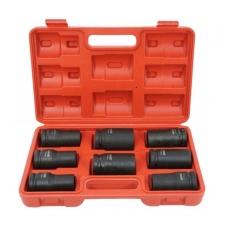 """Smūginių ilgų galvučių rinkinys - 20 mm (3/4"""") - 17 - 32 mm - 8 vnt."""