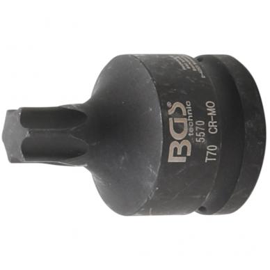"Smūginis antgalis - 20 mm (3/4"") T-Star (Torx) T70"