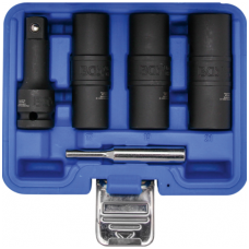 """Specialus smūginių dvipusių galvučių rinkinys, sraigtiniai - ištraukikliai ir ilgintuvas, 12,5mm (1/2"""") 17-19-21mm. 3vnt."""